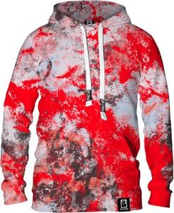 Czerwona bluza Dr.Crow Sklep w młodzieżowym stylu z nadrukiem