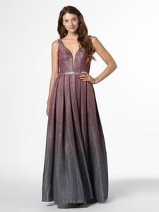 Sukienka Mascara z dekoltem w kształcie litery v rozkloszowana maxi