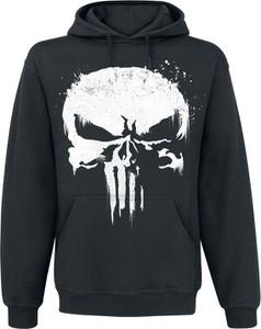 Czarna bluza The Punisher z bawełny w młodzieżowym stylu