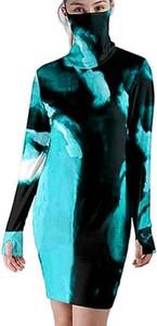 Sukienka Cikelly z długim rękawem z golfem ołówkowa