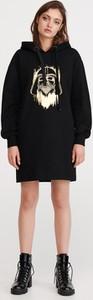 Sukienka Reserved z dekoltem w kształcie litery v mini z długim rękawem