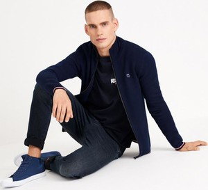 Granatowy sweter Diverse w stylu casual