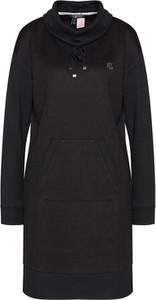 Czarna sukienka Ralph Lauren z długim rękawem