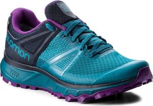 Turkusowe buty sportowe Salomon w sportowym stylu