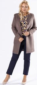 Brązowy płaszcz Ptakmoda.com w stylu casual