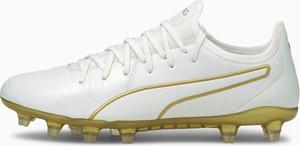 Buty sportowe Puma sznurowane w sportowym stylu ze skóry