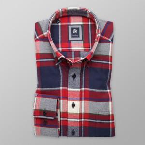 Czerwona koszula Willsoor w stylu casual z długim rękawem
