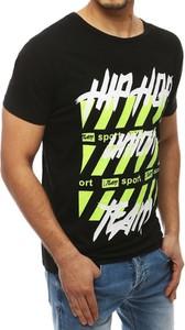 T-shirt Dstreet z nadrukiem z krótkim rękawem
