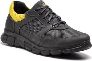Czarne buty sportowe Krisbut w sportowym stylu ze skóry