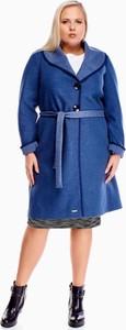 Niebieski płaszcz Fokus w stylu casual