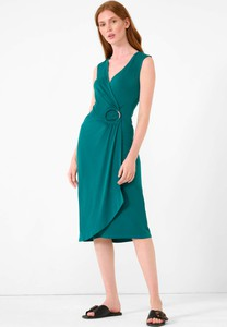 Zielona sukienka ORSAY na ramiączkach midi z dżerseju