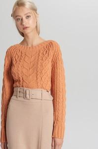 Pomarańczowy sweter Cropp w stylu casual