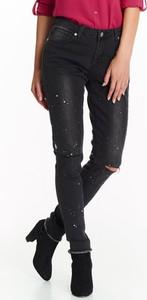 Czarne jeansy Top Secret z jeansu