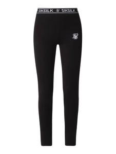 Czarne spodnie Sik Silk z bawełny