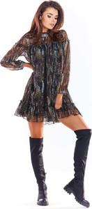 Sukienka Awama w stylu casual oversize z szyfonu