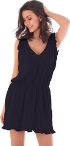 Sukienka Fille De Coton z dekoltem w kształcie litery v z bawełny mini