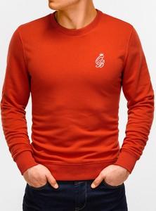 Czerwona bluza Edoti z nadrukiem