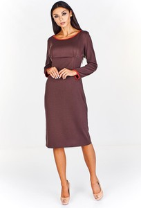 Sukienka Fokus z długim rękawem z okrągłym dekoltem