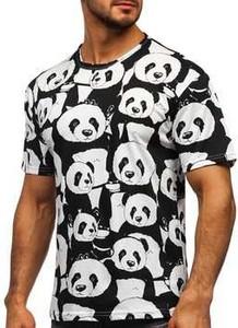 T-shirt Denley z krótkim rękawem z bawełny w młodzieżowym stylu