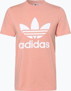 Czerwony t-shirt Adidas Originals z krótkim rękawem