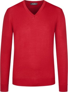 Czerwony sweter Maerz z wełny