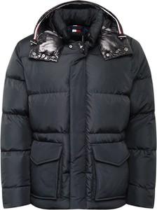 Czarna kurtka Tommy Hilfiger z tkaniny w stylu casual
