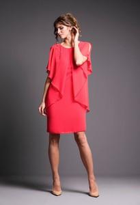 Sukienka Risca z tkaniny z długim rękawem