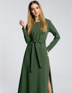Zielona sukienka MOE z dresówki