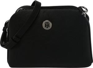 Czarna torebka Tommy Hilfiger ze skóry mała w sportowym stylu