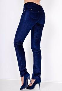 Granatowe jeansy Zoio z bawełny w street stylu