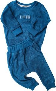 Niebieska bluza dziecięca ilovemilk.pl dla chłopców z dzianiny