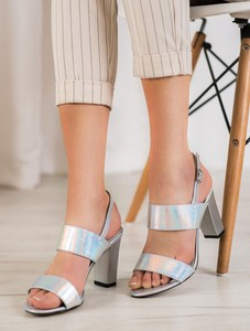 Srebrne sandały Merg