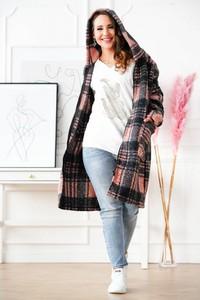 Płaszcz Sklep XL-ka z wełny w stylu casual