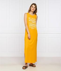 Żółta sukienka Emporio Armani w stylu casual