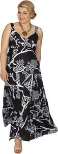 Sukienka Aller Simplement z bawełny na ramiączkach z dekoltem w kształcie litery v