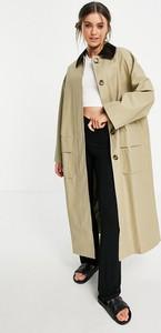 Płaszcz Asos w stylu casual ze sztruksu