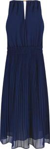 Granatowa sukienka Michael Kors bez rękawów