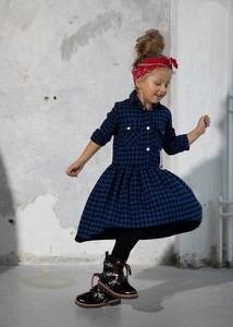 Sukienka dziewczęca Małami w krateczkę
