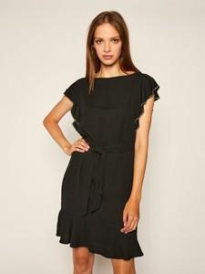 Sukienka Guess z okrągłym dekoltem mini z krótkim rękawem