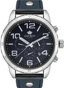 Zegarek męski Gino Rossi Exclusive - CEVI - E9566A - Granatowy sk