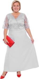 Sukienka modneduzerozmiary.pl z krótkim rękawem z bawełny dla puszystych
