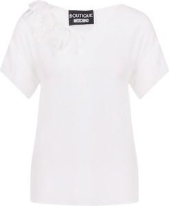 Bluzka Boutique Moschino z jedwabiu z krótkim rękawem