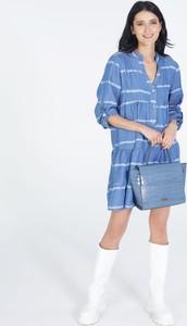 Niebieska sukienka Unisono