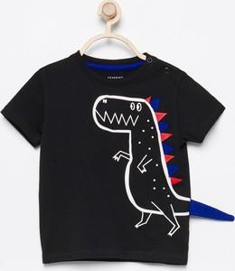 Czarna koszulka dziecięca Reserved z bawełny