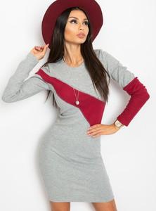 Sukienka Sheandher.pl z bawełny dopasowana z długim rękawem