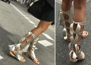Złote sandały Beyco