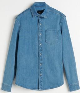 Niebieska koszula Reserved z jeansu