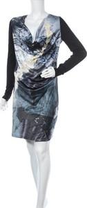 Sukienka S'Nob z długim rękawem mini z dekoltem w kształcie litery v