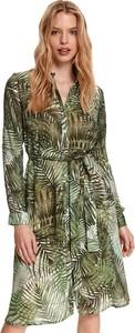 Sukienka Top Secret w stylu casual z dekoltem w kształcie litery v z tkaniny