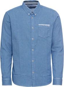 Niebieska koszula Tom Tailor z klasycznym kołnierzykiem z długim rękawem w stylu casual